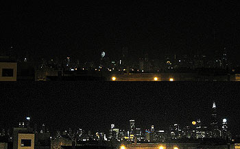 Earth Hour Chicago 2008 Before and after